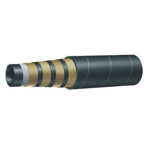 "Aeroquip Hydrauliekslang 4SP DN10 3/8"" - AQHDR10 | Lange levensduur | SBR / NBR | 9,5 mm | 3/8 Inch | 490 bar | 49 MPa | 180 mm | 1960 bar | 1.070 bar | 0,8 kg/m | DIN 20023/1 4SP | 21,4 mm | AQSF4S10 | 20,8 mm"