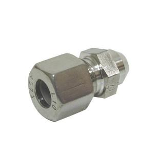 Dicsa Aanlas koppeling 12L RVS A4 - ASV12LRVS | RVS 316L | DIN 2353 | 12 mm | 315 bar