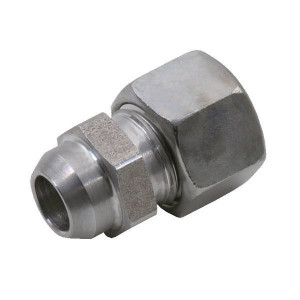 Voss Laskoppeling 6S - ASV6S | 2S snijring | DIN 2353 | Zink / Nikkel | 6 mm | 11,0 mm | 630 bar