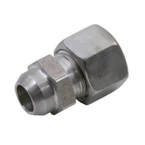 Voss Laskoppeling 8L - ASV8L | 2S snijring | DIN 2353 | Zink / Nikkel | 8 mm | 12,0 mm | 315 bar