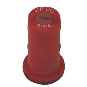 Albuz Vent. kantdop AVI OC 80° rood - AVIOC8004 | 3 7 bar | 11 mm | Keramisch | 80°