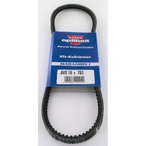 Optibelt V-snaar 10x785 - AVX10785 | Uitstekende slijtvastheid | Onderhoudsvrij | Rustige loop | 785 mm | 785 mm