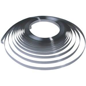 "Bandimex Spanband RVS 12,7mm - B204 | 30 m / Rol | Met afgeronde kanten | 0,75 .030"" mm | 12,7 1/2"" mm"