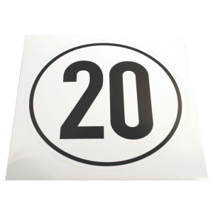 Sticker 20 km Duits model - BF20 | Sticker | 20 km/h | 200 x 200 mm