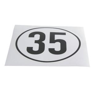 Sticker 35 km Duits model - BF35 | Sticker | 35 km/h | Ø 220 mm