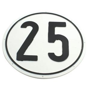 Bord 25 km PVC - BK25 | 25 km/h | Ø 200 mm