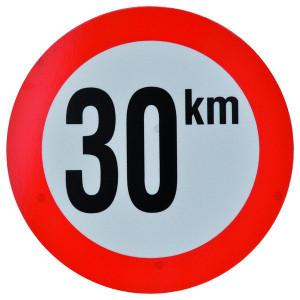 Bord 30 km PVC - BK30 | 30 km/h | Ø 210 mm
