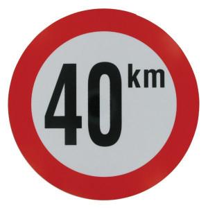 Bord 40 km PVC - BK40 | 40 km/h | Ø 210 mm