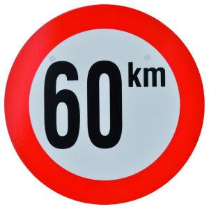 Bord 60 km PVC - BK60 | 60 km/h | Ø 210 mm