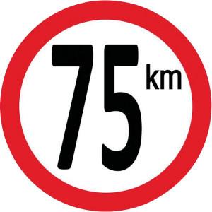 Bord 75 km PVC - BK75 | 75 km/h | Ø 210 mm