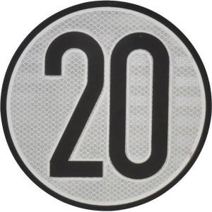 Aanduidingsbord km/h 20 - BL20ES | Metalen uitvoering | Homologatie code Spanje | Ø 200 mm