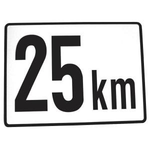 Aanduidingsbord metaal - BL25A | Metalen uitvoering | Metaal | 25 km/h | 200 x 151 mm