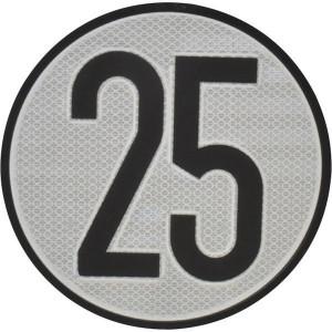Aanduidingsbord km/h 25 - BL25ES | Metalen uitvoering | Homologatie code Spanje | Ø 200 mm