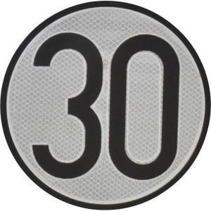 Aanduidingsbord km/h 30 - BL30ES | Metalen uitvoering | Homologatie code Spanje | Ø 200 mm