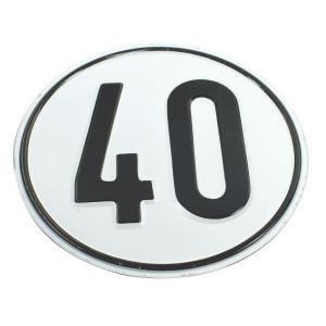 Bord 40 km Duits model - BL40 | Metalen uitvoering | Metaal | 40 km/h | Ø 200 mm