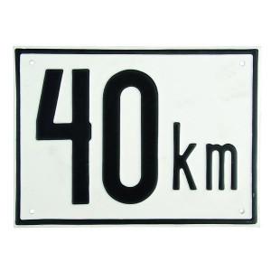 Aanduidingsbord metaal - BL40A | Metalen uitvoering | Metaal | 40 km/h | 200 x 150 mm