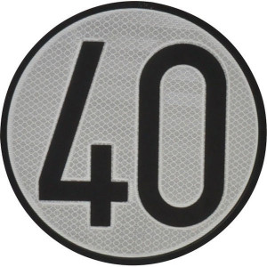 Aanduidingsbord km/h 40 - BL40ES | Metalen uitvoering | Homologatie code Spanje | Ø 200 mm