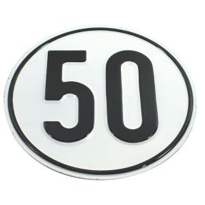 Bord 50 km Duits model - BL50 | Metalen uitvoering | Metaal | 50 km/h | Ø 200 mm