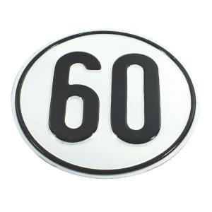 Aand.bord 60 km Duits model - BL60 | Metalen uitvoering | Metaal | 60 km/h | Ø 200 mm