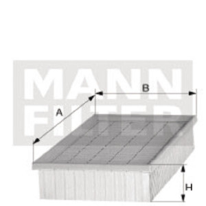 MANN-FILTER Luchtfilterelement - C1121 | C 1121 | 109 mm