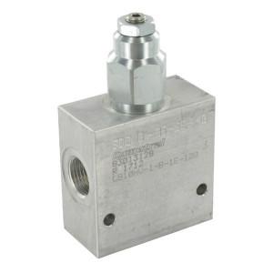 "Comatrol Bal.ventiel enkel 1/2"" 55-180 - CB10HV1B1E1002 | Extern | 210 350 bar bar | Nitrilrubber (NBR) | 115,5 mm | 70 mm | Aluminium | 7 mm | 60 l/min | 4,5 : 1 | 250 bar | 55 180 bar"