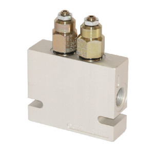 "Comatrol Bal.ventiel dubb. 3/8"" 75-240 - CB10HV2B1E2003 | Extern | 220 bar | Nitrilrubber (NBR) | 125,5 mm | 80 mm | 100 mm | Aluminium | 7 mm | 40 l/min | 4,5 : 1 | 250 bar | 75 240 bar | 3/8"" BSP"
