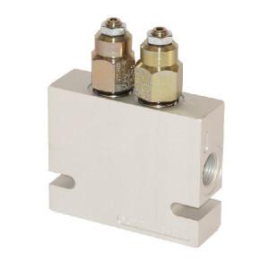 "Comatrol Bal.ventiel dubb. 1/2"" 90-350 - CB10HV3B1E2004 | Extern | 220 bar | Nitrilrubber (NBR) | 125,5 mm | 80 mm | 100 mm | Aluminium | 7 mm | 60 l/min | 4,5 : 1 | 250 bar | 90 350 bar | 1/2"" BSP"