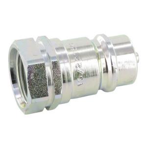"Faster Insteeknippel 1/2-M22x1,5 - CNV02215M | Carbonstaal | NBR / PTFE | Wit gepassiveerd | 20,5 mm | 1/2"" | 75 l/min | M22x1,5 | 300 bar"