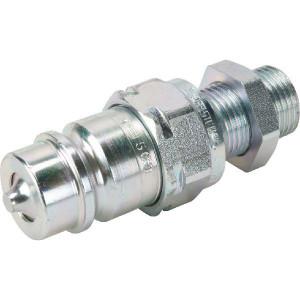 Faster Insteekkop.M22x1,5-15L schot - CNV0852215M | Carbonstaal | NBR / PTFE | Wit gepassiveerd | M22 x 1,5 | 20,5 mm | 75 l/min | 250 bar