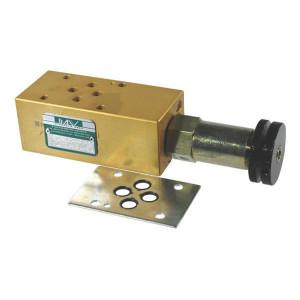 Comatrol 2-Weg stroomregelv. B0K NG06 - CP3002M03001 | 100 mm | 45 mm | 38,5 mm | Cetop 03 | Handwiel | 35 l/min | 210 bar | 6 22,5 l/min