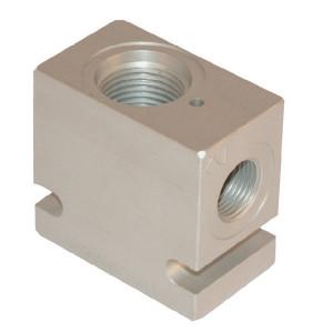 "Comatrol Aluminium huis SDC10-2-A-06 (3/8"") - CP9102A06M | 210 bar | 45 mm | Aluminium | SDC 10 | 3/8 BSP"