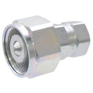 Faster Koppelhuis - CVC0802215M | onder restdruk koppelbaar | Caterpillar bouwmachines | NBR / PTFE | Wit gepassiveerd | M22x1,5 | 50 l/min | 340 bar
