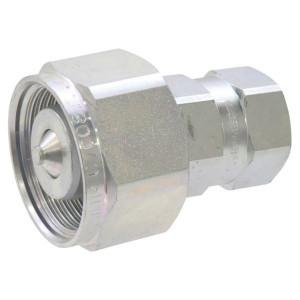 Faster Koppelhuis - CVC0812GASM | onder restdruk koppelbaar | Caterpillar bouwmachines | NBR / PTFE | Wit gepassiveerd | 1/2 BSP | 50 l/min | 340 bar