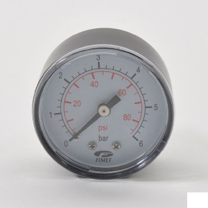 "DAB Pumps Manometer 0-6bar ¼"" achter aansl. - DAB906 | DAB pomp"