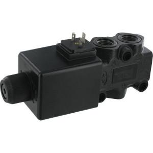 "Walvoil 3/2 Ventiel 24v DC 05 3A G 08 2 - DFE103004 | Onder druk schakelbaar | 90 l/min | 1/2"" BSP | 46,5 mm | 121 mm | 213 mm"