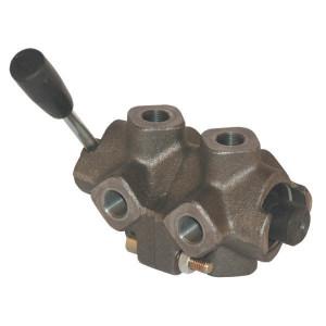 "MTC 8-wegkraan d-plug 3/8"" - DH058A | Gietstaal | A = D-plug B = E-plug | 3/8 BSP | 8,5 mm | 38,5 mm | 142 mm | 250 bar | 35 l/min | A mm"