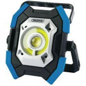 Draper Werklamp COB LED, oplaadbaar, 10-5W/1000 Lumen, blauw - D31296