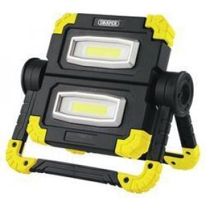 Draper Werklamp COB LED oplaadbaar, 2x10W/850 Lumen - D87696