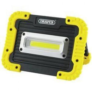 Draper Werklamp COB LED, 10W/700 Lumen, exclusief 4xAA batterijen - D87761