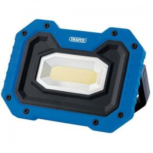 Draper Werklamp COB LED oplaadbaar, 5W/500 lumen, inclusief speaker, blauw - D88032