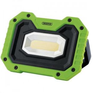 Draper Werklamp COB LED oplaadbaar, 5W/500 lumen, inclusief speaker, groen - D88040