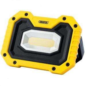 Draper Werklamp COB LED oplaadbaar, 5W/500 lumen, inclusief speaker, geel - D90004