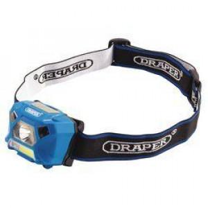 Draper Hoofdlamp COB LED, Oplaadbaar 3W/200lumen - D90067