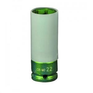 """Steiner 1/2"""" Krachtdop 15mm, lang dunwandig (licht groen) - SK12LD15"""
