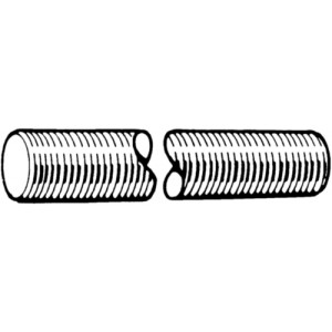 RVS draadeind | Voldraad | Metrisch | DIN 975
