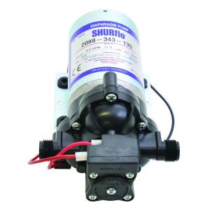 Shurflo Diafragmapomp 12V 11,30 l/min - DIP2088343135 | 11,3 l/min | 3.1 bar | 3.1 bar | Polypropyleen | Verzinkt | 218 mm | 127 mm | 113 mm | 2,18 kg