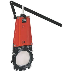 WEY Schuifafsluiter + hendel DN100 - DN100VNBN | 126 mm | 454 mm | 220 mm | 493 mm | 180 mm | 717 mm | M 16 mm | 100 mm