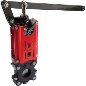 WEY Schuifafsluiter + hendel DN65 - DN65VNBN | 108 mm | 382 mm | 185 mm | 391 mm | 145 mm | 528 mm | M 16 mm