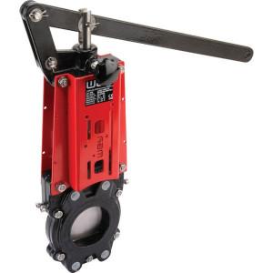 WEY Schuifafsluiter + hendel DN80 - DN80VNBN | 108 mm | 382 mm | 200 mm | 409 mm | 160 mm | 585 mm | M 16 mm