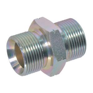 Dubbele nippel M10x1,0 - DNM101 | Verzinkt | M 10 x 1,0 metrisch | M 10 x 1,0 metrisch | 380 bar